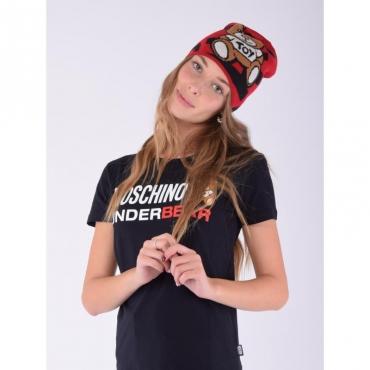 Cappello stampa orso logo allover ROSSO