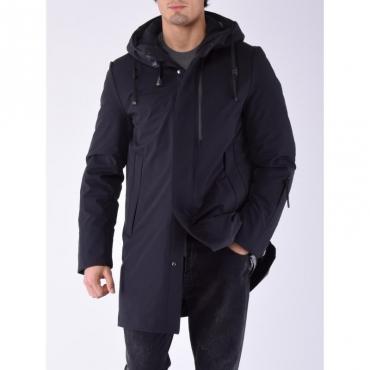 Capalbio cappotto tessuto tecnico NERO