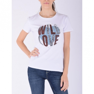 T-shirt moda m/c BCO OTT LIVE CHECK