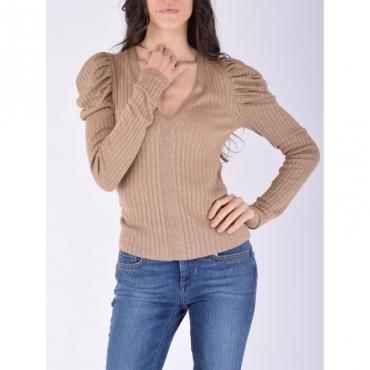 T-shirt moda m/l TOBACCO BROWN LUREX