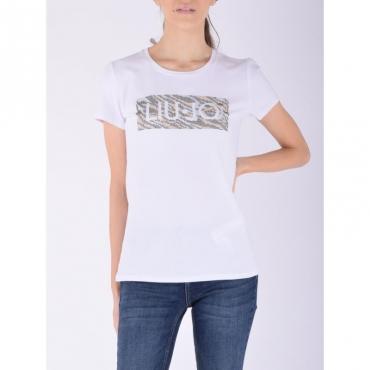 T-shirt moda m/c BIANCO LIUJO TOPAZ