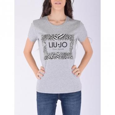 T-shirt moda m/c GRIGIO MDMELANGE