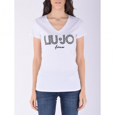 T-shirt moda m/c BIANCO OTTICO