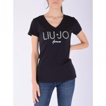 T-shirt moda m/c NERO