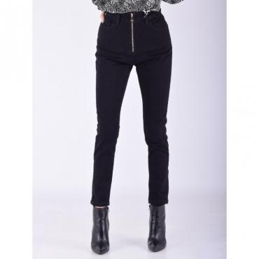 Jeans skinny zip frontale DENIM NERO