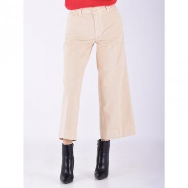 Pantalone cropped velluto BURRO