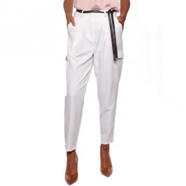 Pantalone tasconato flanella leggera BURRO