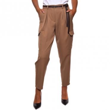 Pantalone tasconato flanella leggera CAMMELLO