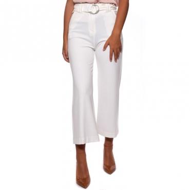 Pantalone cropped punto milano BURRO