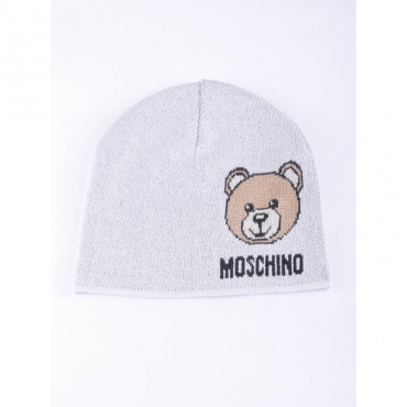Berretto stampa orso con logo GRIGIO CHIARO