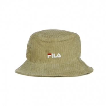 CAPPELLO DA PESCATORE CORD BUCKET HAT LINEAR LOGO IRISH CREAM