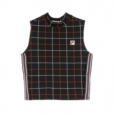 TOP WANETA ALL OVER PRINT BLACK CHECK