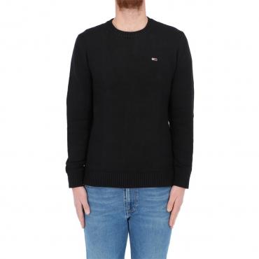 Maglia Tommy Hilfiger Uomo Regular Fit 100 Cotton BDS BLACK