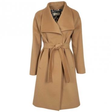 Cappotto lungo in lana con cintura 180