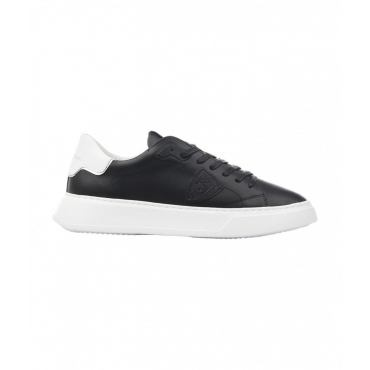 Sneaker TEMPLE LOW MAN VEAU nero