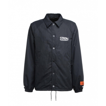 Coach jacket nero