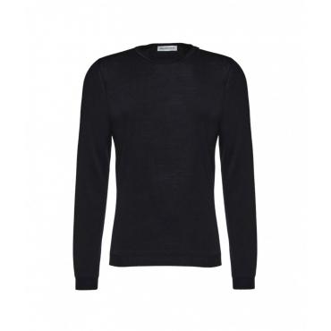Girocollo in lana merino nero
