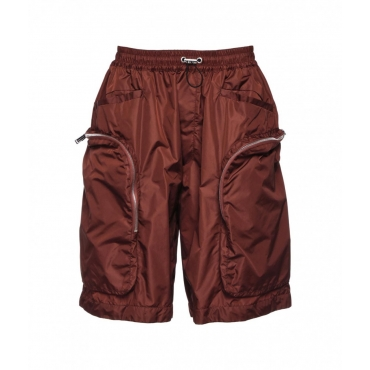 Bermuda-Short in Nylon marrone