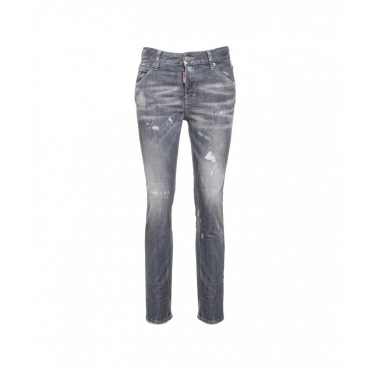 Cool Girl Jean grigio