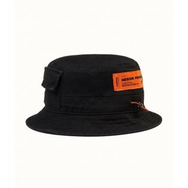 Cotton Twill Bucket Hat nero
