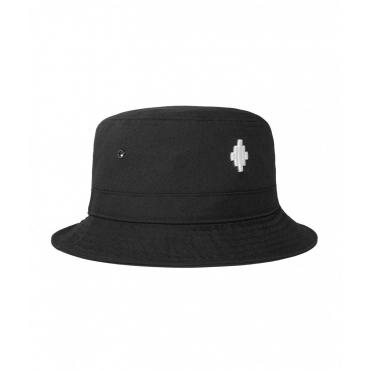 Cross Bucket Hat nero