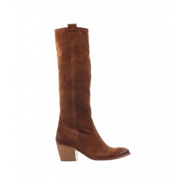 Stivali in camoscio marrone