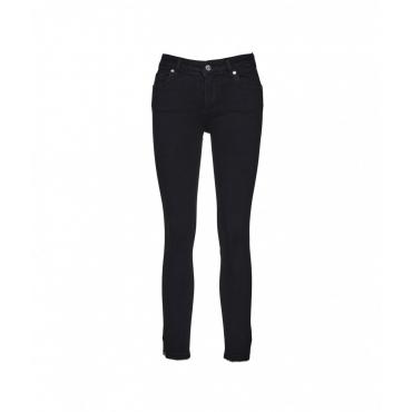 Jeans Sweet Reg con applicazione di strass nero