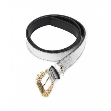 Cintura con fibbia barocca argento