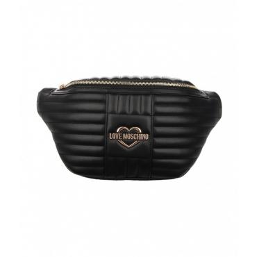 Beltbag trapuntata con logo nero