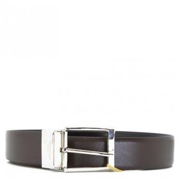 Cintura in pelle bicolore 310