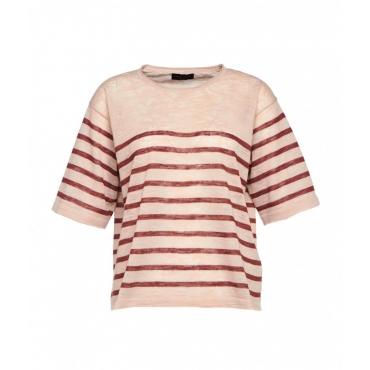 Camicia a righe rosa