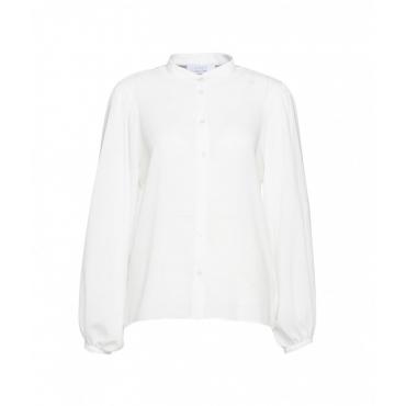 Camicie con maniche a sbuffo bianco