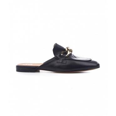 Loafer con dettaglio fibbia nero
