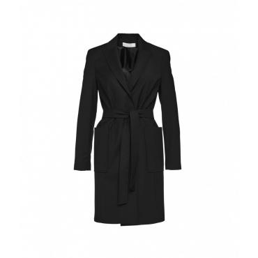Cappotto con cintura nero