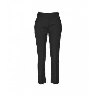 Pantalone con pieghe in vita nero