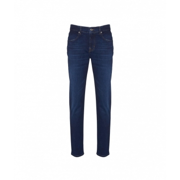 Slimmy Tapered Jeans blu scuro
