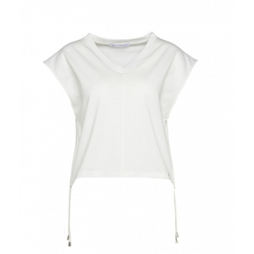 T-shirt con coulisse in vita bianco