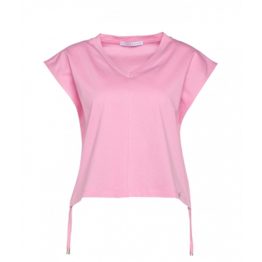 T-shirt con coulisse in vita pink