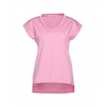T-shirt con borchie pink