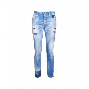 Jeans Skinny Dan blu