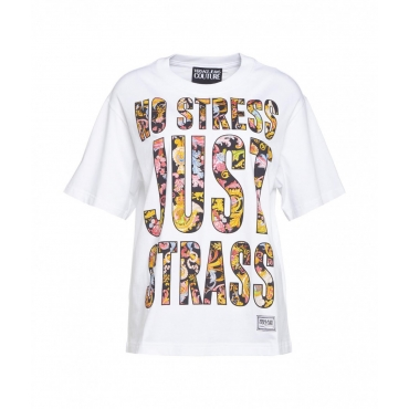 T-shirt con logo all over bianco