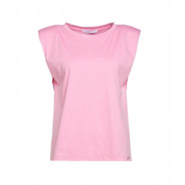 Top con spalle imbottite pink