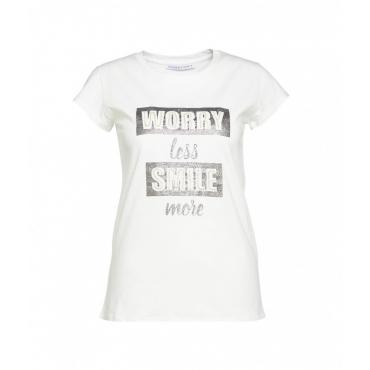 T-shirt Smile bianco