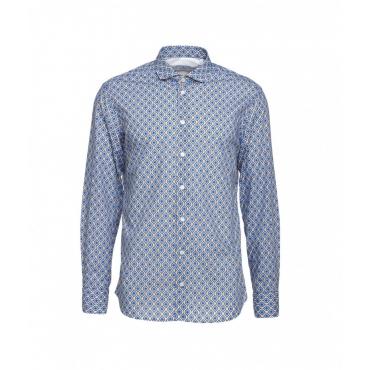 Camicia con motivo blu