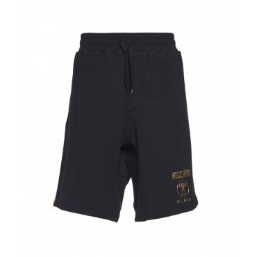 Jogging shorts con logo nero