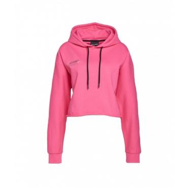 Hoodie cropped pink