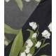 Abito con stampa floreale nero