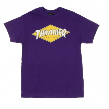 MAGLIETTA DIAMOND LOGO TEE PURPLE