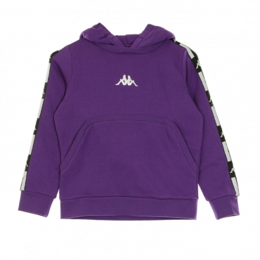 FELPA CAPPUCCIO AUTHENTIC LA DAWAZ VIOLET/BLACK