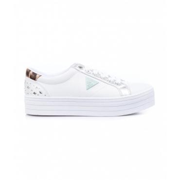 Sneaker con logo patch bianco
